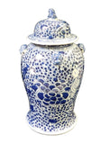 blue and white phoenix bird general jar