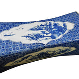Chinese Blue White Porcelain Scenery Pillow Shape Display cs1725S
