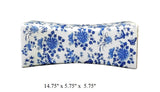 Chinese Blue White Porcelain Flowers Pillow Shape Display cs1726S