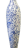 porcelain blue and white narrow vase