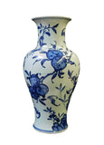 porcelain blue and longevity peach vase