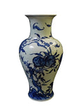 vintage blue and white ceramic vase