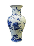 longevity peach ceramic vase