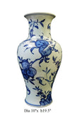 handmade blue and white porcelain vase