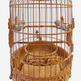 Chinese Bamboo Dimensional Warfield Carving Birdcage Display cs1766S