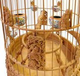 Bamboo Chinese Dimensional Warfield Carving Birdcage Display cs1766S