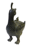 Chinese Oriental Green Bronze-ware Home Decor Display cs1771S