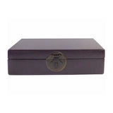 Chinese Purple Rectangular Shape Container Box