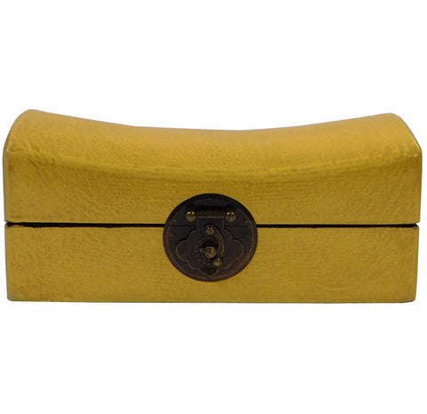Chinese Yellow Pillow Shape Container Box cs1807S