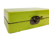 rectangular box -lime green box - wood box