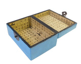rectangular box -blue box - wood box