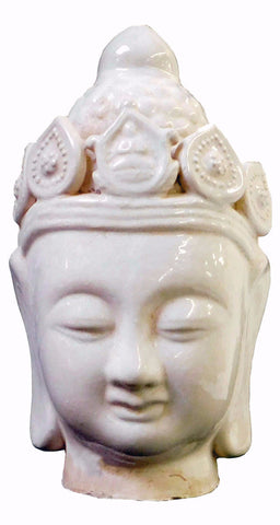 Chinese Oriental Ceramic Clay Kwan Yin Head Figure cs1840S