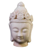 off white - clay Kwan Yin- Buddha Head