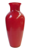 red vase - glass vase -Chinese vase