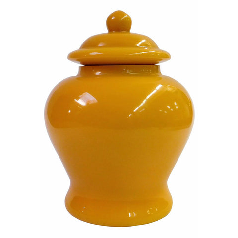 glass jar - peking glass - yellow jar