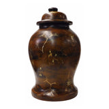 Lacquer jar - Chinese wood art - Wood jar