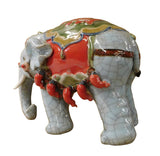 elephant - gray blue elephant - ceramic elephant