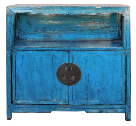 blue table - side table - slim cabinet