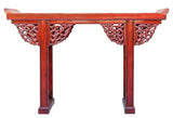 altar table - red table - console table