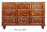 dresser - console cabinet - orange brown