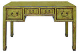 lime green yellow - altar table - desk