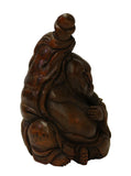 bamboo art - Chinese carving - Happy Buddha