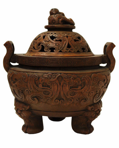 bamboo carving  - incense burner - Chinese art