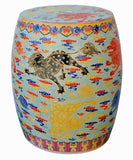 Porcelain stool - Clay stand - foo dogs Kirin