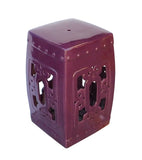 Porcelain stool - purple stool - square clay table