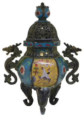 enamal - cloisonne - incense burner