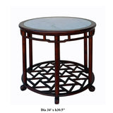 round marble table - pedestal table - Chinese tea table