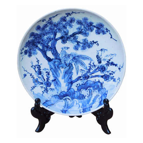 blue white porcelain - charger plate - Chinese plate