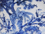 charge plate -blue white - Chinese porcelain