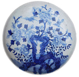 charger plate - blue white - Chinese porcelain