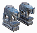 Stone elephants - Trunk up - Zen Garden