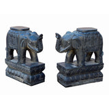 pair indoor outdoor stone elephant