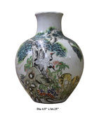Chinese Oriental Scenery Print Graphic Ceramic Vase cs2193S