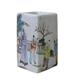 Chinese Oriental Scenery Print Graphic Ceramic Vase cs2194S