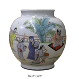 Chinese Oriental Scenery Print Graphic Ceramic Vase cs2205S