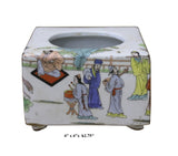 Chinese Oriental Scenery Print Graphic Ceramic Holder Container cs2207S