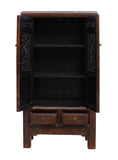 distressed brown - storage cabinet  - Chinese armorie