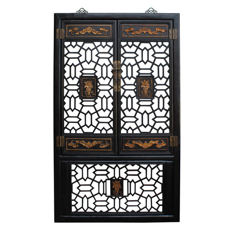 Chinese Golden Floral Carving Wall Panel Screen cs2244S