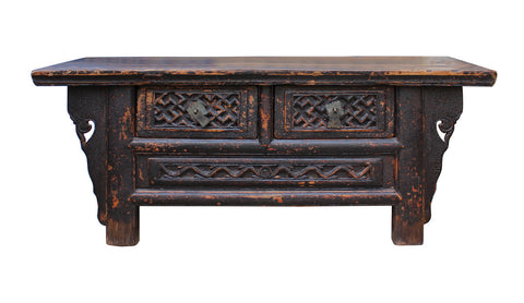 kang table - rustic table - chest of drawers
