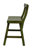 chair w back - lime green - wood stool