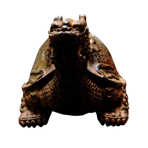 stone dragon turtle feng shui statue