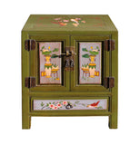 mustard green - end table - nightstand