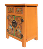 End table - Nightstand - orange