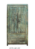 blue green cabinet - tall dresser - chinese cabinet