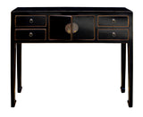 foyer table - slim table - black side table