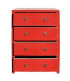 dresser - Red cabinet - storage drawers